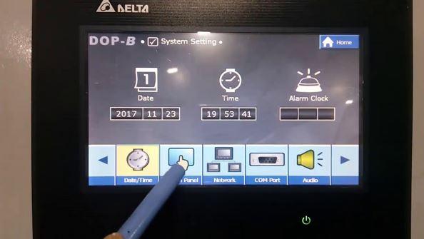 Màn hình Delta có giao diện thân thiện, dễ dàng thao tác sử dụng